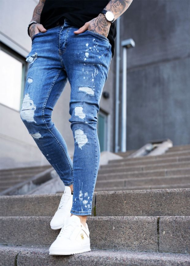 Nevada Ripped & Repaired Jeans Blue