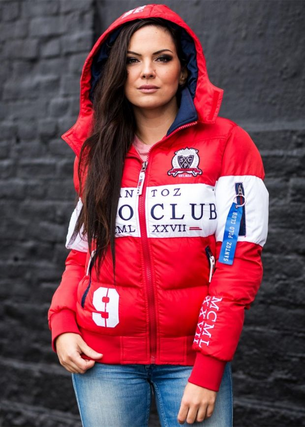Victory Polo Club Women Winter Jacket Red/White