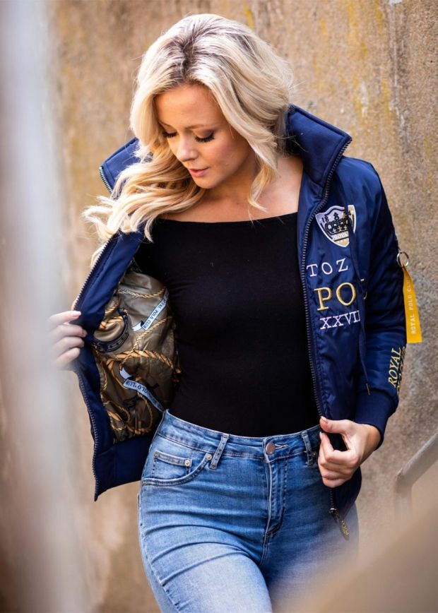 Royal Polo Limited Ed. Women Jacket Navy Blue / Gold