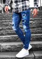 LGND Chained Ripped & Repaired Jeans Dark Blue Wash