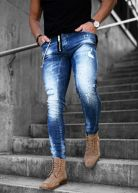 LGND Heavy Distressed Jeans Blue Wash