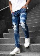 LGND Heavy Distressed Splatter Jeans Blue