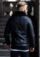 Heavy Aviator Shearling Jacket Black