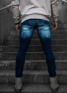 Ripped & Repaired Vintage Jeans Blue Wash